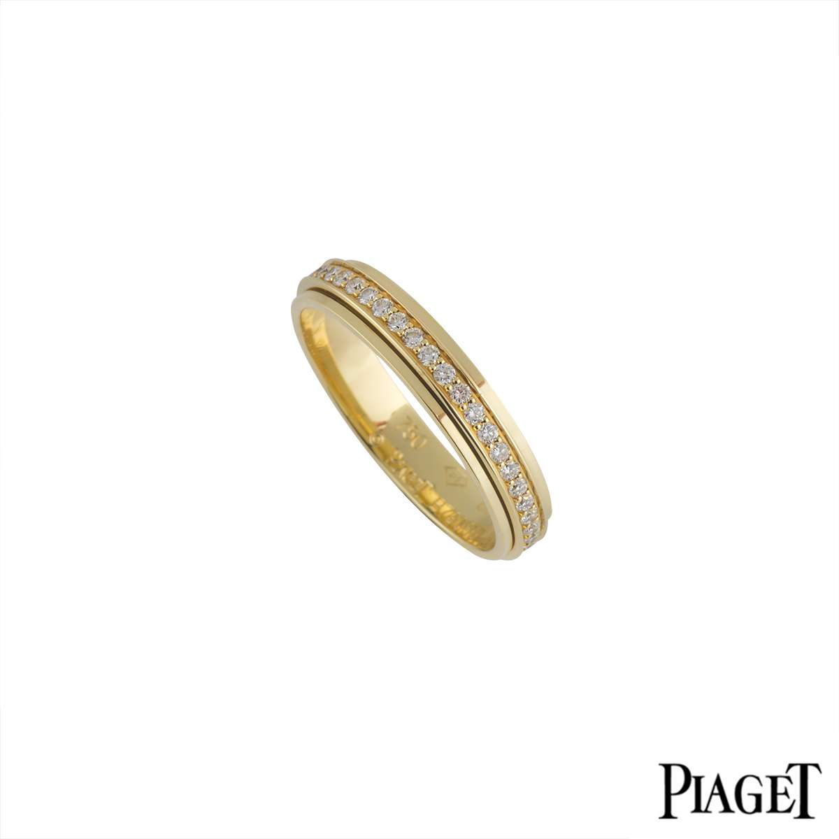 Piaget 18k Yellow Gold Diamond Set Possession Ring Size 68